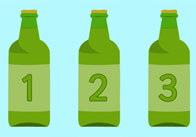 10 Green Bottle Cards