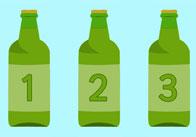 10 Green Bottle Cards