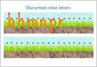 1armed robot letters thumb 1 Armed Robot Letter Formation
