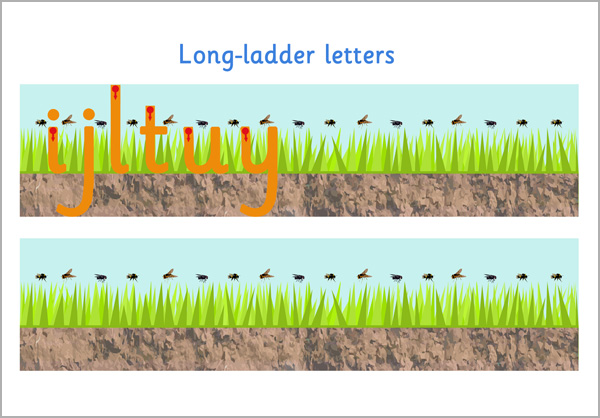 Long Ladder Letter Formation   Free Early Years & Primary Teaching ...