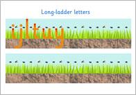 Long Ladder Letter Formation