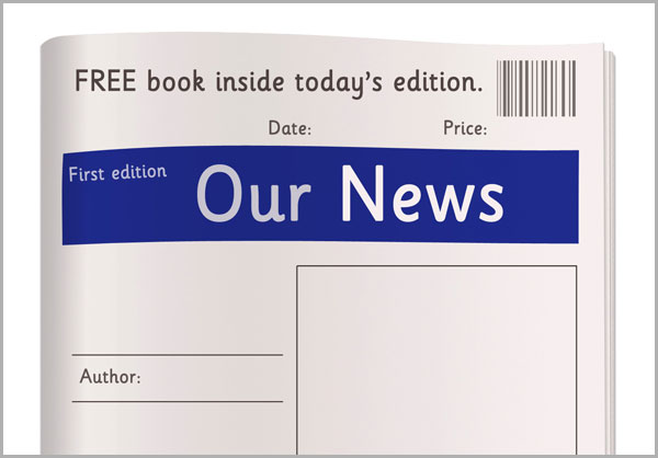 graphic about Free Printable Newspaper Template referred to as Early Finding out Materials Newspaper Template - Free of charge Early