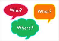 Speech bubble question words