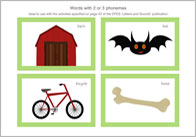 Words with 2 or 3 Phonemes