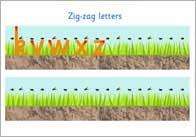 Zig zag letters thumb Zig Zag Letter Formation Sheet