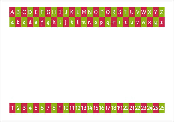 Alphabet & number writing sheet (landscape)2 | Free Early ...