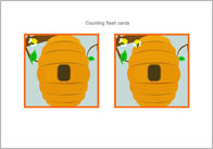 Counting Flash Cards – Bees