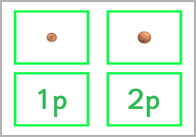 Coin Matching Cards