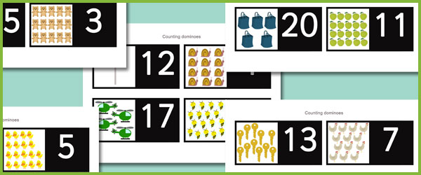 Classroom Ideas Early Years ~ Counting dominoes free early years primary teaching