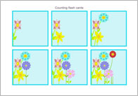 Counting Flash Cards – Flowers