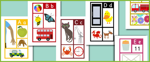 graphic about Alphabet Poster Printable titled Early Finding out Elements 4 Visualize Alphabet Posters - Cost-free
