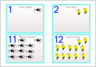 Minibeasts Numberline