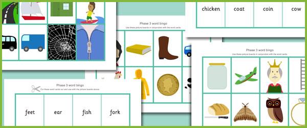 Phase 3 Bingo Free Early Years Amp Primary Teaching