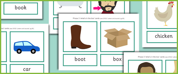 Phase 3 Quot What S In The Box Quot Cards Free Early Years