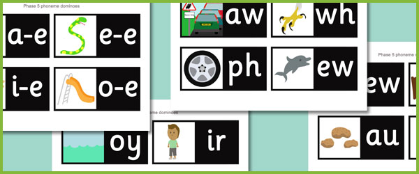 Early Learning Resources Phase 5 Dominoes Free Early Years And Primary Teaching Resources Eyfs And Ks1
