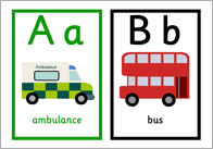rd transport alphabet thumb Road Transport Alphabet Cards