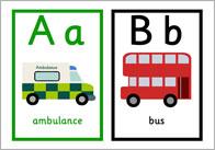 Road Transport Alphabet Cards