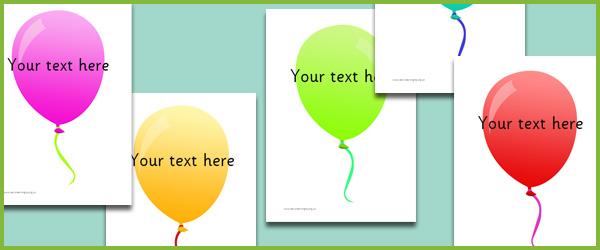 Balloons - Editable Text