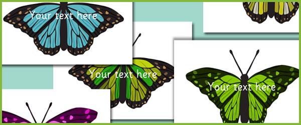 Butterflies - Editable text