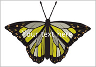 Butterflies - Editable text
