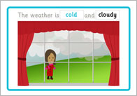 Cold and cloudy thumb Weather Picture Cards