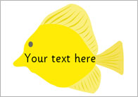 Fish Pictures – Editable Text