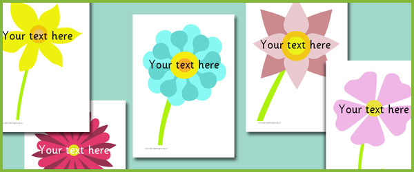 flower picture cards