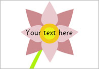 Flower Pictures – Editable Text