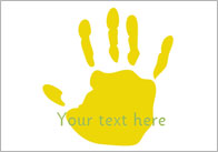 Handprints – Editable Text
