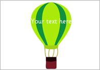 Hot Air Balloons – Editable Text