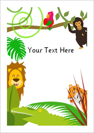 Jungle Notepaper Eyfs Ks1 Free Early Years Amp Primary