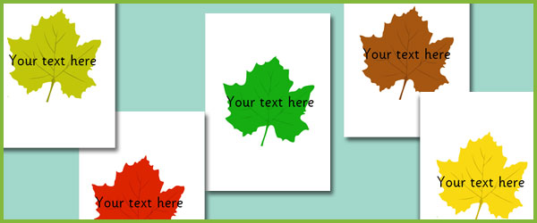 Leaves Editable Text Free Early Years Amp Primary