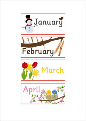 EYFS, KS1 Months of the Year Labels | Free Early Years & Primary ...