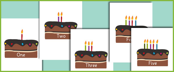 Editable Birthday Cake Numberline Free Early Years