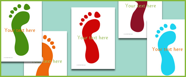 Footprints Editable Text Free Early Years Amp Primary