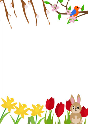 Spring Page Borders For Microsoft Word Images & Pictures - Becuo