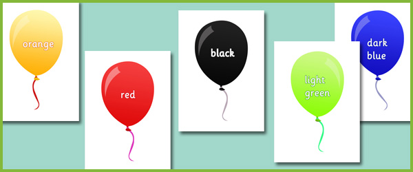 early learning resources colour balloons