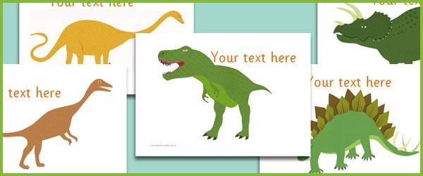 Dinosaur text