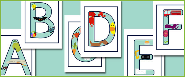 A - Z Themed Letters (Uppercase)