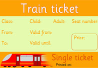 train ticket template word - ticket office role play eyfs free early years