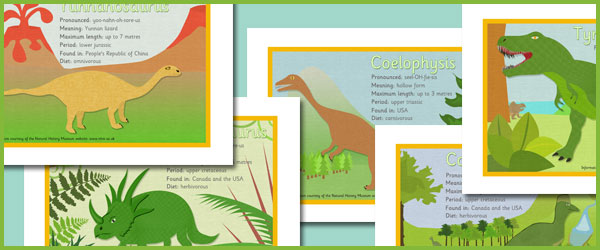Dinosaur Fact Sheets  Free Early Years  Primary Teaching