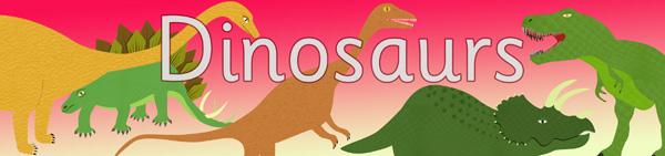Dinosaur display poster
