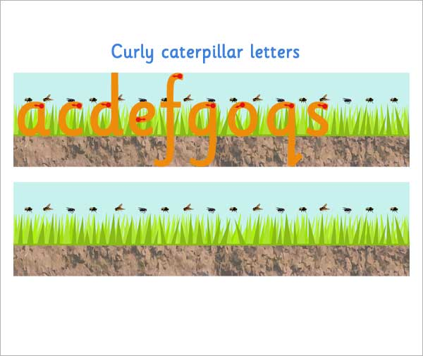 Curly Caterpillar Letter Formation Free Early Years