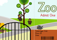 Zoo role play ticket