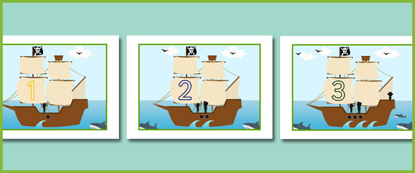 Pirate Ship Number Line : Free Early Years u0026 Primary ...