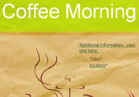 Early Learning Resources Editable Coffee Morning Poster