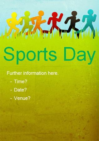 sports day poster template - sports day fun run poster free early years primary