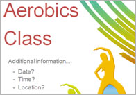 Editable Fitness Class Poster