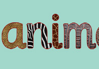 Textured Animal Letters