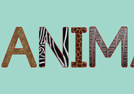 Textured Animal Letters (Capitals)